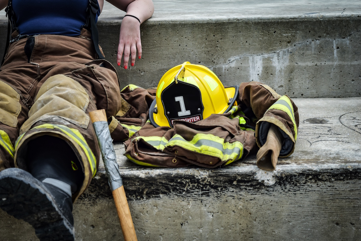 Firefighter Sitting
